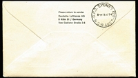 Lot 406 [3 of 7]:1967-82 Lufthansa FFCs to and from Australia incl scarce intermediates. (20)