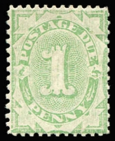 Lot 383:1907 Design Completed Wmk Crown/Double Lined A 1d light green Wmk inverted, BW #D54w, Cat $140.