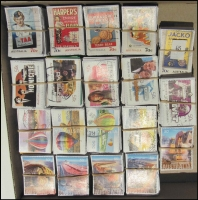 Lot 168:2006-14 Sheet Stamps 2006 50c TV Shows (100 sets), 2008 50c Heavy Machinery, 50c Hot Air Balloons (100 sets), 2014 70c Advertisments (100 sets). (1,900)