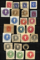 Lot 15 [2 of 2]:Postal Stationery Cut-Out Selection from Australia, GB, India, NZ, few foreign, mostly cut to shape. Mixed condition. (140+)