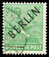 Lot 395 [1 of 2]:1948 Berlin Opts in black to 84pf (16), Mi #1-16, Cat €360+. Offered 'as is'.