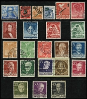 Lot 441 [2 of 2]:Berlin (West) 1948-70 Collection on 25 Hagners incl various 1948 Opts in black to 80pf, 1949-54 Buildings (21), 1950 ERP, Lortzing, 1951 Stamp Day (2), 1952 Beethoven, Olympics (3), 1953 Uprising 30pf, 1954 Stamp Exhib, 1956-63 Buildings (18), 1961-63 Famous Germans (15), 1964-69 Architecture (24), 1970-73 Pres Heinemen (23), etc, many later commems in sets. Cat £1,000++. (100s & M/Ss).
