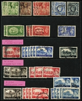Lot 373 [1 of 4]:1939-80s Definitive Issues incl 1939-48 High values 10/- dark blue, selection of De La Rue & Waterlow Castles, 1988 Castles, 3 sets plus additional £5 (2), 1992-95 £3 (2), £5 (5), 1993 Britannia £10 (5), all used, plus Mint/MUH range incl 1969 Machin to £1 (4), 1970-72 Machins to £1 also small collection of Postage Dues (MLH/MUH) to £1. Generally fine. (130+)