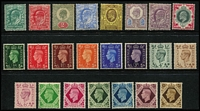 Lot 377 [2 of 2]:KEVII-QEII Group incl various KEVII (8) to 1/- mint, KGVI 1937-49 Defins (15, some MUH), 1955 Waterlow £1 (MLH), commem selection (MUH) incl 1960 GLO (2), 1961 Parliamentary Conference (2), etc. Cat Approx £300. Generally fine. (29)