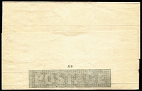 Lot 1374 [2 of 2]:1840 1d Mulready Letter Sheet Stereo A6, Forme 1, unused. Some minor blemishes as to be expected. Cat £375.