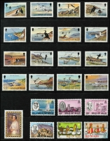 Lot 479 [3 of 3]:Isle Of Man 1973-87 Collection on 27 Hagners incl 1973-75 Picts (22) complete to 1987 Douglas, plus 1980 80p Booklet, Postage Dues 1973 (8), 1973a (8), 1975 (8), 1982 (8). (370+, 8 M/Ss, booklet & 3 FDCs).