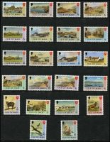Lot 479 [1 of 3]:Isle Of Man 1973-87 Collection on 27 Hagners incl 1973-75 Picts (22) complete to 1987 Douglas, plus 1980 80p Booklet, Postage Dues 1973 (8), 1973a (8), 1975 (8), 1982 (8). (370+, 8 M/Ss, booklet & 3 FDCs).