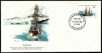 Lot 374 [3 of 3]:1979-82 Ships Set of 16 incl both 15c Nimrods on unaddressed Fleetwood illustrated FDCs. Base FD cancels. Cachet illustrations (all different) by stamp designer Ray Honisett. (16)
