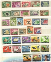 Lot 347 [2 of 3]:1950s-80s Accumulation in 7 sparsely filled Chinese stockbooks with Cocos, Fiji, Nauru, Norfolk Island few M/Ss, Papua New Guinea (odd tone spots here & there) with many pre-decimal issues duplicated (heavily in some cases) incl 1965 Prows (17 sets), 1964-65 Birds in profusion with 2/3d (44), 3/- (40), 5/- (16), 10/- (20), Pitcairn Islands 1940-51 Picts (10, 4d MLH), 1957 Picts (11), 1964-65 Birds (13), 1967 Opts (13), Samoa, etc. Many Charles & Di gutter strips of 10, or few blocks of 4. Generally fine. HEAVY LOT. (10.5kg). (100s)