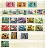 Lot 347 [3 of 3]:1950s-80s Accumulation in 7 sparsely filled Chinese stockbooks with Cocos, Fiji, Nauru, Norfolk Island few M/Ss, Papua New Guinea (odd tone spots here & there) with many pre-decimal issues duplicated (heavily in some cases) incl 1965 Prows (17 sets), 1964-65 Birds in profusion with 2/3d (44), 3/- (40), 5/- (16), 10/- (20), Pitcairn Islands 1940-51 Picts (10, 4d MLH), 1957 Picts (11), 1964-65 Birds (13), 1967 Opts (13), Samoa, etc. Many Charles & Di gutter strips of 10, or few blocks of 4. Generally fine. HEAVY LOT. (10.5kg). (100s)