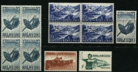 Lot 350 [2 of 3]:Oddments incl Christmas Island 1963 Picts (10), Norfolk Island 1960 2/8d Local Gov't, PNG 1952-58 2/- Masks (5, incl block of 4), 1958-60 1/7d Cattle (5, incl block of 4) etc. (44)