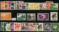 Lot 350 [3 of 3]:Oddments incl Christmas Island 1963 Picts (10), Norfolk Island 1960 2/8d Local Gov't, PNG 1952-58 2/- Masks (5, incl block of 4), 1958-60 1/7d Cattle (5, incl block of 4) etc. (44)