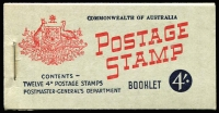 Lot 871:1957-59 4/- 4d claret, stapled remake, BW #B60Cw, Cat $200.