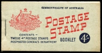 Lot 926:1957-59 4/- 4d claret, stapled remake. BW #B60Cw, Cat $200.