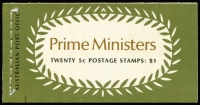 Lot 242:1969 Prime Ministers $1 Booklet, various 'Editions', BW #B132 range, Cat $150+. (7)