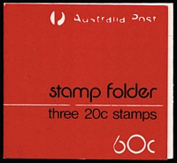 Lot 300 [1 of 4]:1979 60c (3x20c) (10, incl one with white writing [A.Post & Logo partially covered by red overinking]) & 80c (4x2) Test Folders (13), 1982 Eucalypt 60c & $1 (7 of each incl 2 with FDI cancels), 1984 Cockatoo $1 (7), plus $3.70 Postal Services & $3.90 Living Together. (46)