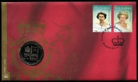 Lot 344:2002 50c Golden Jubilee/Accession PN, Retail $350.
