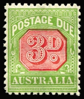 Lot 248 [1 of 2]:1902-36 Selection incl 1902 (from NSW Plates) 2d, 3d & 4d, 1902-04 ½d, 5d, 10d & 1/-, 1913-23 Thin paper 1/- with misplaced centre (MLH), 1931-36 CofA wmk P11 3d, 1/- . Mixed condition throughout (18)