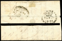 Lot 264 [3 of 7]:1850s-1930s Postal History & Postal Stationery incl New South Wales two 1850s part entires with 2d Laureates to Sydney or Richmond River, Queensland 18981d Pictorial card uprated with ½d stamp to USA, 'T.P.O./S.& W.RY QUEENSLAND No.4' on reverse, Australia stationery range incl KGV 1d Violet postal card (17 unused, plus one uprated to Germany in 1923), 1920 1½d on 1d used, also 1924-30 Official 1d green ('OS' solid engraving), Wrappers incl 1913-15 ½d unused, 1931-38 1d green to New Zealand, also several KGV covers incl two 1934 1st Flight covers to New Zealand. Mixed condition throughout. (Approx 40 items)