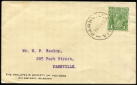 Lot 264 [1 of 7]:1850s-1930s Postal History & Postal Stationery incl New South Wales two 1850s part entires with 2d Laureates to Sydney or Richmond River, Queensland 18981d Pictorial card uprated with ½d stamp to USA, 'T.P.O./S.& W.RY QUEENSLAND No.4' on reverse, Australia stationery range incl KGV 1d Violet postal card (17 unused, plus one uprated to Germany in 1923), 1920 1½d on 1d used, also 1924-30 Official 1d green ('OS' solid engraving), Wrappers incl 1913-15 ½d unused, 1931-38 1d green to New Zealand, also several KGV covers incl two 1934 1st Flight covers to New Zealand. Mixed condition throughout. (Approx 40 items)
