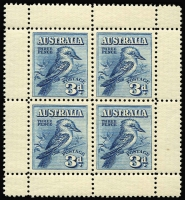 Lot 501 [2 of 4]:1913-93 Collection in 3 (expensive) 'KA-BE' hingeless albums incl Roos 1st wmk to 1/-, 1913-14 Engraved 1d (2), 6d Kooka, 2nd wmk to 6d, 3rd wmk to 1/-, 5/-, KGV Single wmk to 1/4d, SM wmk P14 to 1/4d, SM wmk P13½x12½ to 1/4d, 1928 Kooka M/S, KGV commmems complete incl Bridge 5/-, KGVI incl Robes (both sets), (ex Arms), commems complete, QEII complete incl navigators (8). Decimals almost complete to 1993 incl 1966 navigators optd 'SPECIMEN' (4, 75c & $1 '15mm opt' plus many later 'SPECIMEN' issues), 1970 Cook M/S (2, one 'ANPEX' opt), 1971 Christmas (2 sets of singles, 2 blocks of 7 plus pane of 25), 1993 Inter-Parliamentary Union blocks of 25 (both), Framas, numerous booklets, panes, several M/Ss optd for Stamp Shows, plus AAT 1957-92. Many issues throughout are either MLH or MUH. Generally fine. Inspection recommended. Heavy lot. 6.3kg. (100s)