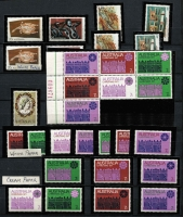 Lot 212 [3 of 4]:1966-90s Collection incl 1966 Decimals, 1968 Soil/Medical thick & thin lines unfolded gutter pairs, booklet issues with tabs, coils, Cook set & M/S, 1974-79 Paintings to $10, 1990 $20 Painting, peel & sticks & some p&s booklets, M/Ss, joint issues, etc. Face value $580+. (100s)