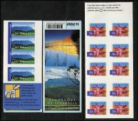 Lot 222 [2 of 2]:1993-2004 Booklet Collection on 40+ '2 strip' Hagners incl few Christmas, Internationals, etc, Face Val $500. (93)