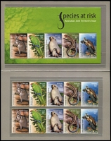 Lot 315 [2 of 3]:2008-10 Pack selection in PW Pack Album incl Internationals, M/Ss, sheetlets, se-tenant pairs, strips & blocks, Joint issues, etc, Face Val $360+. (Approx 80)