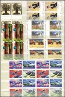 Lot 316 [2 of 2]:1994-2007 Accumulation in as new 'Prinz' 64 page stockbook with many issues in blocks of 4 or 16, few gutter strips, sheetlets, joint issues, Framas (singles) and M/Ss also few AAT, Face Val $800+. (100s)