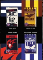 Lot 319 [1 of 4]:1996-2003 Booklet Selection incl 1996 Football (2 sets of 16 booklets in special folders), several Prestige booklets incl 1997 Classic Cars, 1998 Leunig, Premium Booklets incl 2002 Greetings (2) to 2003 Murray River Shipping. Face Val $280. (15 items)