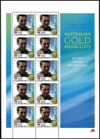Lot 324 [2 of 2]:2000 Olympics (Sep-Oct) 72 sheetlets of 10 in varying quantities from 2 to 17, all with map of Australia at base, plus Opening Ceremony sheetlet of 10 (18). Face Val $400+. (900)