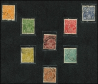 Lot 201:Collection incl various wmks, shades, few varieties, etc, mint incl Single wmk 4d olive, used selection incl Single Wmk 1d Red wmk & 4d orange, both wmk inverted, CofA ½d to 1/4d, also Kangaroo 1d with wmk inverted. Mixed condition. (43)
