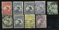 Lot 277 [2 of 2]:Group incl 1st Wmk ½d green wmk inverted, 1d, 2½d (2), 1/-, 3rd Wmk 2d, 2½d, 3d, 9d. Mixed condition. (10)