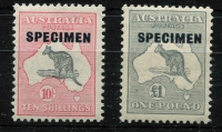 Lot 619 [2 of 2]:10/- To £2 Overprinted 'SPECIMEN' Type D, BW #50xe,54x,58x. Very fresh MUH. (3)