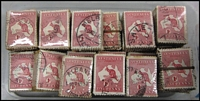 Lot 279:1d Red 2,000 examples in bundles of 100.