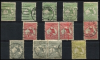 Lot 508 [2 of 2]:Inverted Selection incl ½d (5, incl one mint), 1d (5, incl pair), 2d (3, incl pair), 3d. Mixed condition. (14)