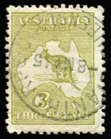 Lot 32:3d Olive Die I Watermark Inverted with neat cds of [ST]