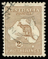 Lot 527:2/- Brown light NSW cds cancel, BW #36, Cat $350.