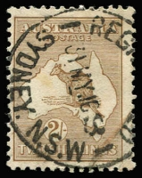Lot 537:2/- Brown BW #36, bold Sydney cancel, Cat $350.
