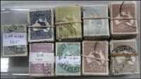 Lot 281:2d To 2/- Brown in bundles of 100. (900)
