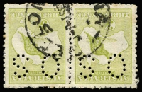 Lot 569 [1 of 2]:Watermark Inverted Selection incl 3d (4, 3 perf 'OS', one private perfin), 6d blue (2 one perf 'OS/NSW'), 9d (3). Mixed condition. (9)