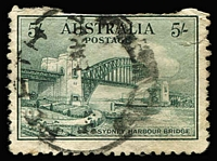Lot 256:1932 5/- Sydney Harbour Bridge a perfect spacefiller. BW #148