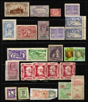 Lot 144 [2 of 3]:World Accumulation: incl Brazil, Canada, Egypt, Fiji WWII Bomber Fund label on piece, France 1945 'Borodino' (5), GB, some locals, Herm, India, Malta, Monte Bello Island. (70+)