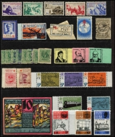 Lot 144 [1 of 3]:World Accumulation: incl Brazil, Canada, Egypt, Fiji WWII Bomber Fund label on piece, France 1945 'Borodino' (5), GB, some locals, Herm, India, Malta, Monte Bello Island. (70+)