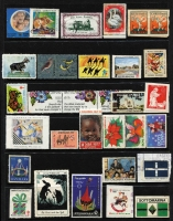 Lot 145 [3 of 3]:World Accumulation: incl Australia with 1929 Parcel Post label 'used', Western Australia c1900 Busselton Tea Rooms Raffle ticket, Canada, GB 1914 Red Cross label, Dan Dare labels, New Zealand, US Boystown labels, many anti-TB labels incl South Africa, few matchbox labels, etc. Mixed condition. (100s)