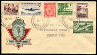 Lot 1365:1963 (Jun 11) Pictorials 1963 (Jun 11) Pictorials (6) on PMG Hermes generic FDC to Floreat Park with PERTH cds (Mainland FDI postmarks on this issue are very scarce).