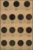 Lot 147 [1 of 2]:Australia: ½d Collection from 1911-64 complete incl 1914 (both), 1923 ½d & both 1939 ½ds, 1942, Y & I, 1943 both, 1945 (both), 1948 (both), 1951, Y, PL, in special coin album. Mixed condition. Retail approx $600. (59)