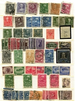 Lot 6 [1 of 4]:Austria 1870s-1920s on leaves & loose in packets incl 1875 25k carmine, 1908 Picts to 10k, 1918 'FLUGPOST' Opts (3), selection of newspaper stamps, various opts, few blocks, etc. Mixed condition. (300++)
