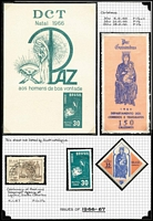Lot 14 [3 of 5]:Brazil 1850s-1987 Collection on neatly annotated pages incl range of earlies with various perfs, 1891 Liberty (4), many Mercury issues, 1941-49 Defins (18), 1943 Stamp Centenary (3 & M/S), Airs (3), 1945 Victory (5), 1966 Christmas (3, plus special souvenir card), 1969 Christmas M/S (MUH), with many MUH issues incl 1970 World Cup (3), Christmas & M/S, 1971 Highway pair, 1972 EXFILBRA (3 & M/S), Folklore (5), 1972 Tourism (4), National Congress Building, Independence (5), Gov't Services, and used Fittipaldi, 1973 Copernicus M/S, many other better sets. High cat value. Generally fine. (100s & many M/Ss)