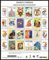 Lot 15 [1 of 4]:Brazil 1988-2006 Collection on neatly annotated pages incl most se-tenant pairs, blocks, M/Ss, Die cut stamps, etc, incl 1997 Children & Citizenship sheetlet of 16, 1998 Art Biennale block of 8, 2001 Cars M/S, Flora & Fauna booklet, 2002 Winter Olympics block of 4, Art block of 8, 2004 Olympics block of 4, etc. Very high cat value and many issues are MUH. (100s & many M/Ss)
